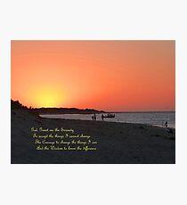 The Serenity Prayer Photographic Print