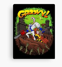 Earthworm Jim vs The Army of Darkness! Canvas Print