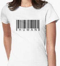 Human Barcode Women's Fitted T-Shirt