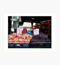 Yummy Cherries and Strawberries...... Art Print