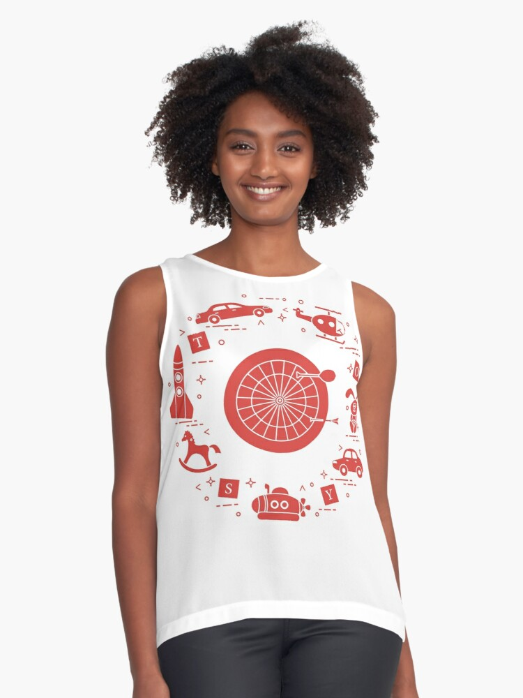 Toys for children. Contrast Tank Front
