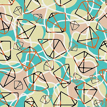 Retro polygonal abstract pattern by DariaNK