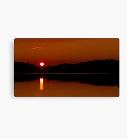 Algonquin Park - Brewer Lake Sunset Canvas Print