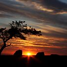 Dog Rocks Sunset - Geelong by Paul Moore