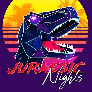 JURASSIC NIGHTS - Miami Vice Vapor Synthwave Dinosaur by forge22