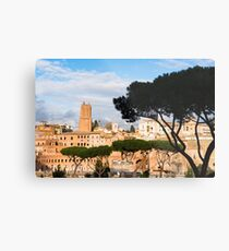 Ancient Rome city skyline with Trajan's Forum Metal Print