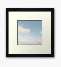 Pale Clouds in Air Framed Print