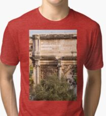 Arch of Septimius Severus with the Roman Forum Tri-blend T-Shirt