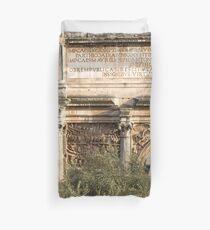 Arch of Septimius Severus with the Roman Forum Duvet Cover