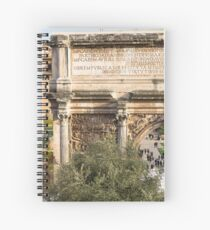 Arch of Septimius Severus with the Roman Forum Spiral Notebook