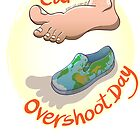 Oversized Footprint Earth Overshoot Day by Zoo-co
