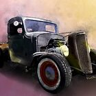 1936 Rat Rod Pickup Truck Watercolour by ChasSinklier