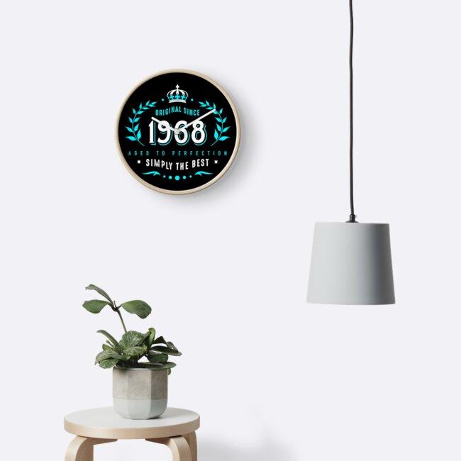 Original Since 1968 50th Birthday Laurel Wreath Clocks By Helen