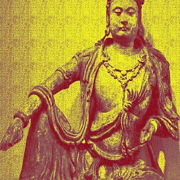 Avalokiteshvara Bodhisattva  2 -Design 3 by DharmaDog215