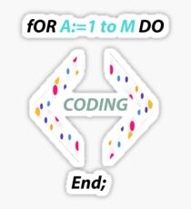 If you like coding and you study algorithms then this Tshirt is For u ^^ Sticker