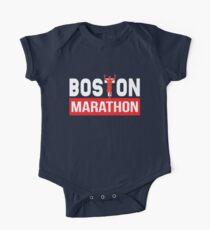 Boston Marathon Baby Body Kurzarm
