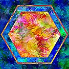 Hexagon in Complementary Colors by Dana Roper