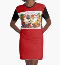 CUBA : Vintage Habana Cigar Advertising Print Graphic T-Shirt Dress