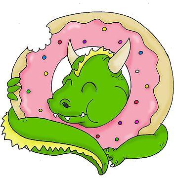 Dragon Doughnut by MistyFigs