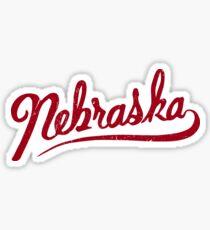 Nebraska hand drawn writing graphic  Sticker