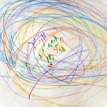 Child's Abstract Crayon Drawing by CreativeBytes