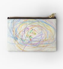 Child's Abstract Crayon Drawing Studio Pouch