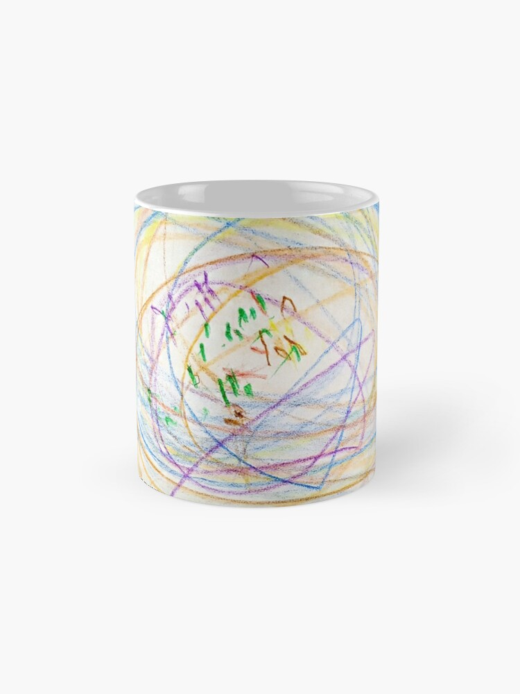 Alternate view of Child's Abstract Crayon Drawing Mugs