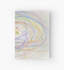 Child's Abstract Crayon Drawing Hardcover Journal