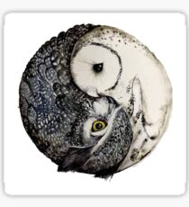Owl Ying and Yang Sticker