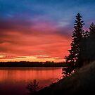 Summer sunset at the river by Svetlana Korneliuk