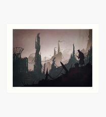 The traveller Art Print