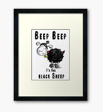 Beep Beep I'm The Black Sheep Framed Print