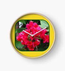 Red Bougainvillea Clock