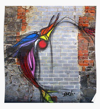 Grafitti, Brunswick Street in Melbourne Poster