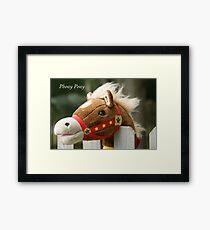 Phony Pony Framed Print