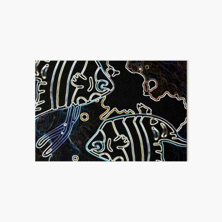 Blue Water Fish Dark Night Art Board Print