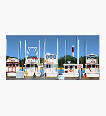 Boats on the Dock Photographic Print