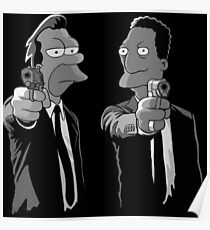Pulp Fiction Simpsons Poster