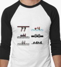 Thorpe Park Coaster Cars Design Men's Baseball ¾ T-Shirt
