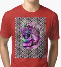 SKULL KING AND PATTERN Tri-blend T-Shirt