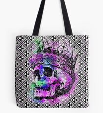 SKULL KING AND PATTERN Tote Bag
