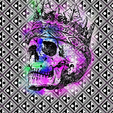SKULL KING AND PATTERN by fuxart