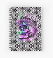 SKULL KING AND PATTERN Spiral Notebook