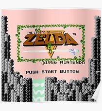 Legend of Zelda: Start Screen Poster