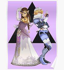Póster Zelda y jeque