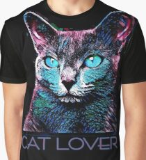 CAT LOVER CRASSCO RUSSIAN BLUE Graphic T-Shirt