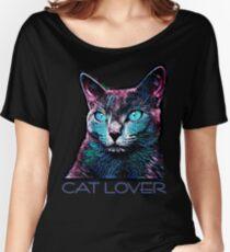 CAT LOVER CRASSCO RUSSIAN BLUE Women's Relaxed Fit T-Shirt