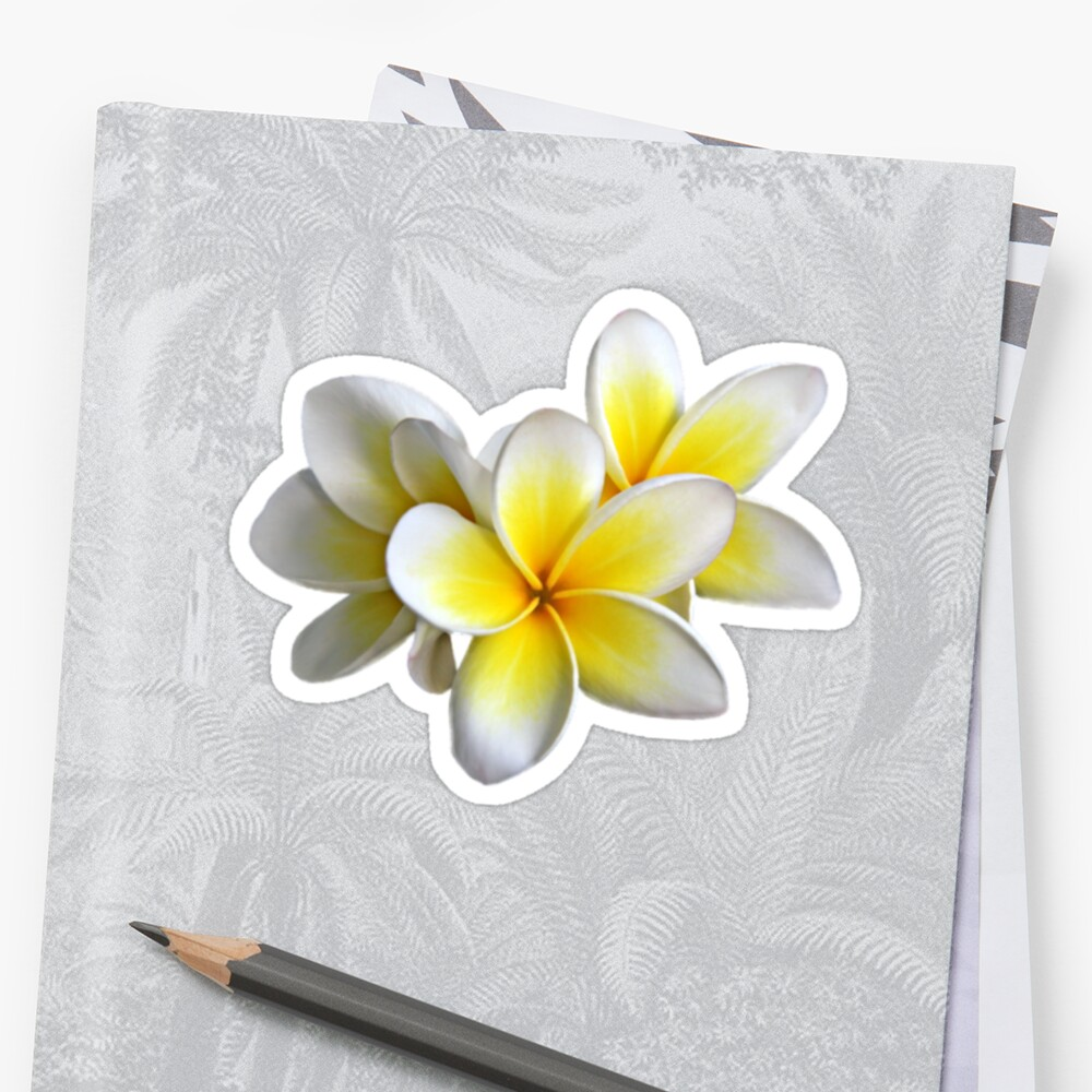 Tropical Yellow Flowers Stickers By Julieiluj Redbubble