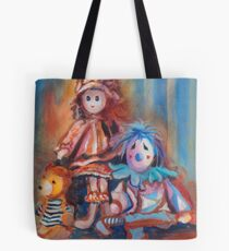 Teddy Bear and Dolls Tote Bag