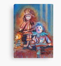 Teddy Bear and Dolls Canvas Print